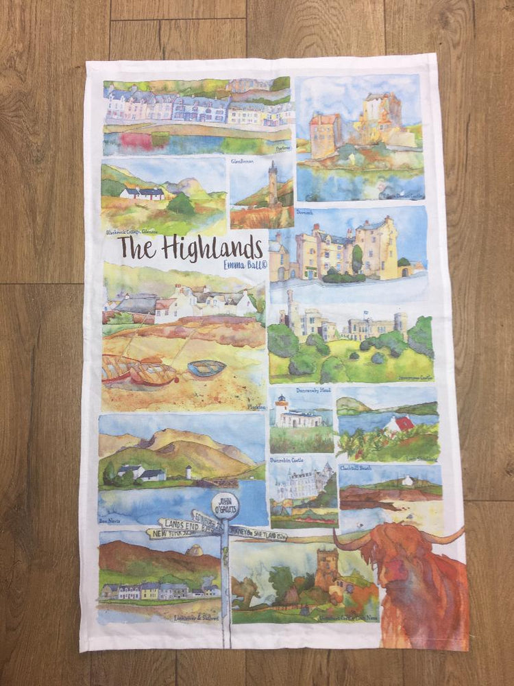Emma Ball 'Highlands' Tea Towel £9.95