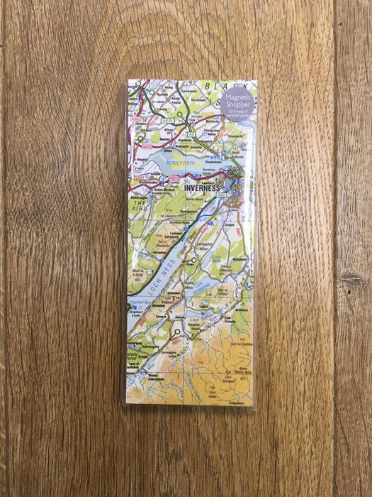 Judith Glue Inverness Map Magnetic Shopper Pad £6.95