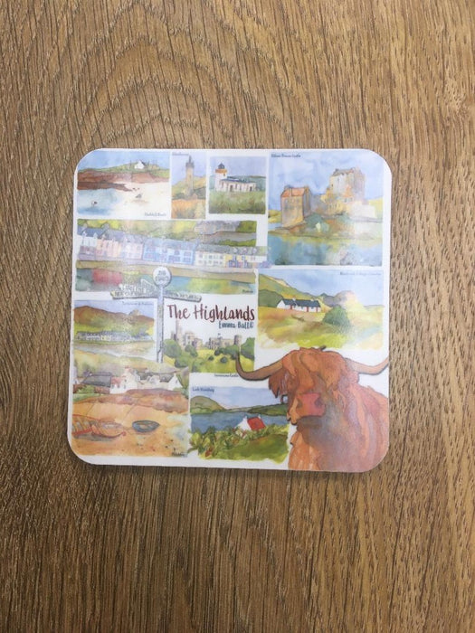 Emma Ball 'Highlands' Coaster £3.95