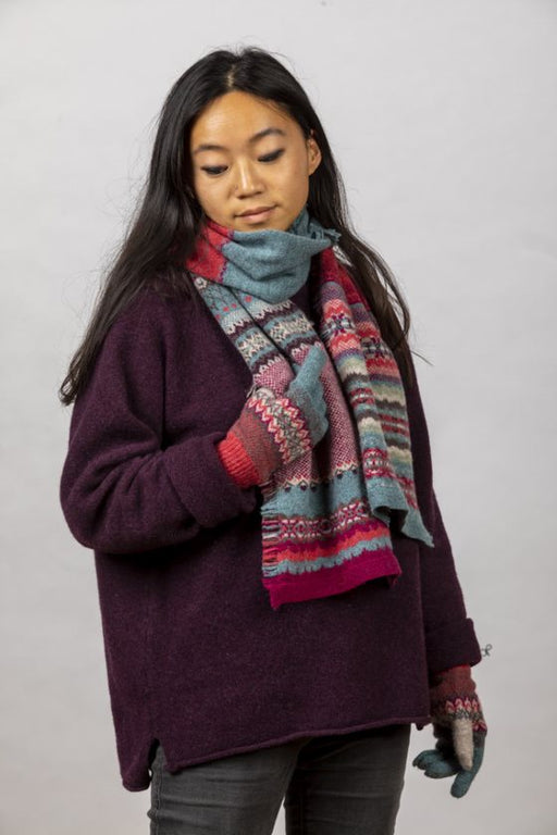 Eribe Alba Fringed Scarf in Old Rose 69.00