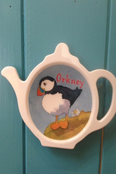 Emma Ball Puffin 'Orkney' Teabag tidy £3.95