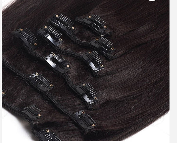 Clip-In (8 pcs) - Natural 1B Hair