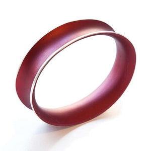 Anodized Bangle Large Bordeaux