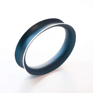 Anodized Bangle Small Navy