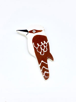Ceramic Kookaburra Brooch