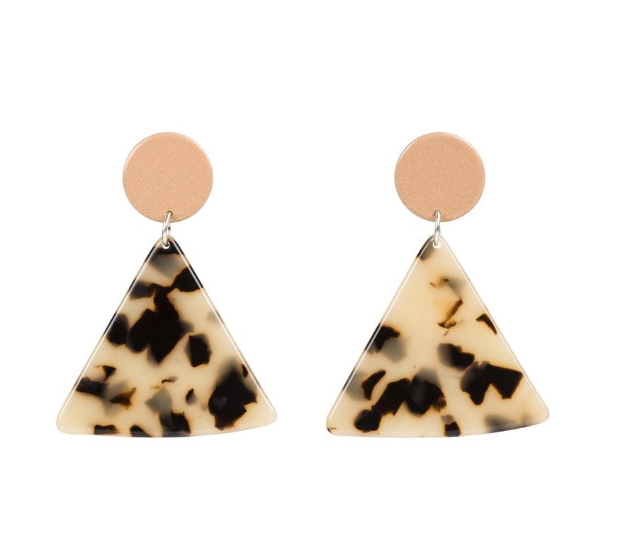 Chip Earrings Peach