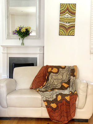 Damien & Yilpi Marks Knitted Cotton Throw