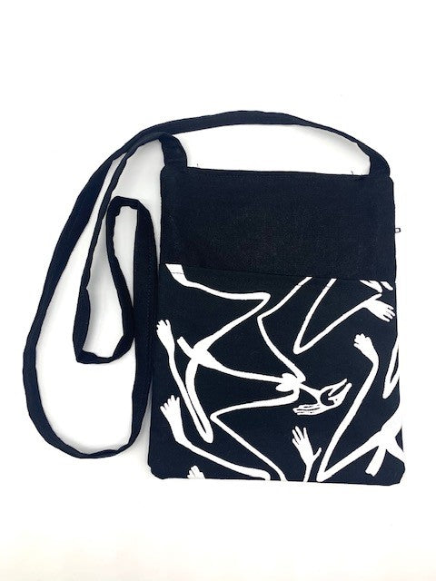 White Figures Shoulder Bag