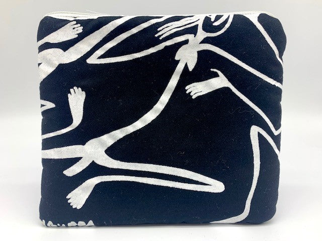 White Figures Zip Pouch