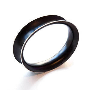 Anodized Bangle Large Black