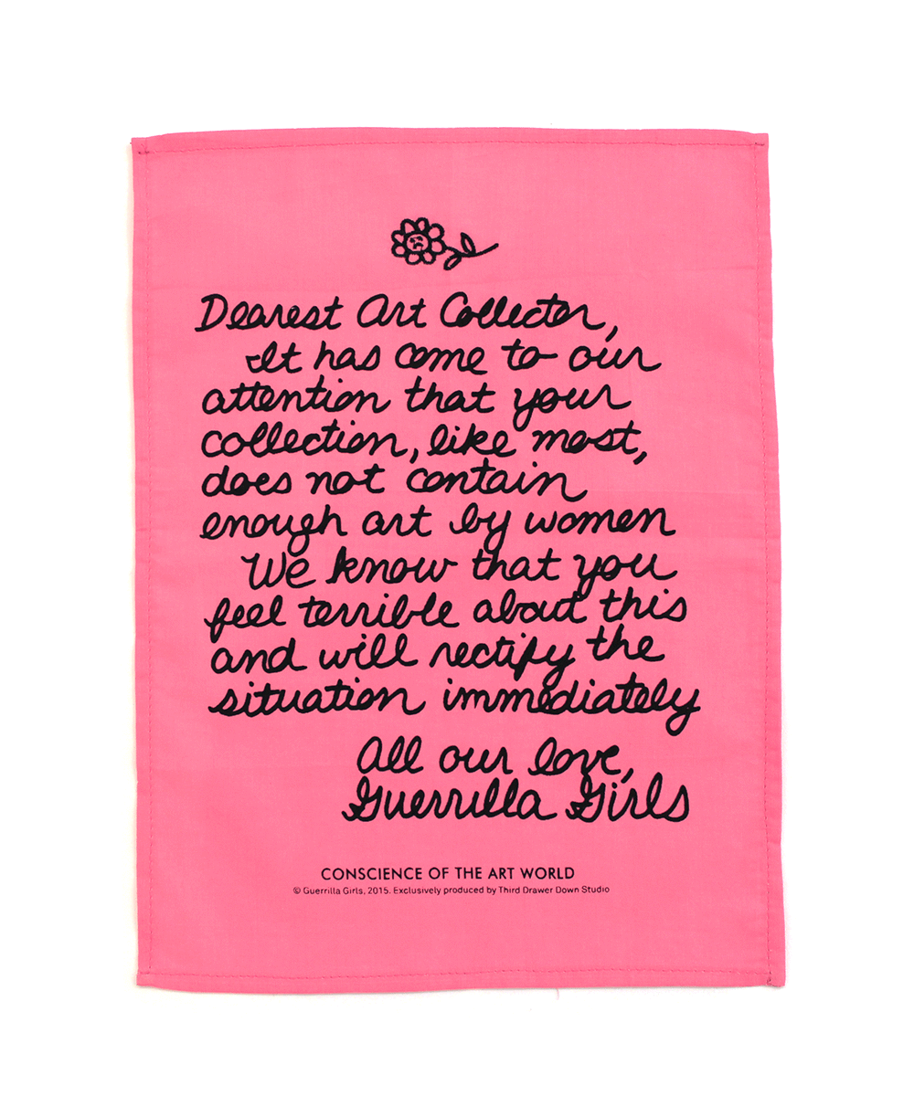 Dear Art Collector Handkerchief - Guerrilla Girls