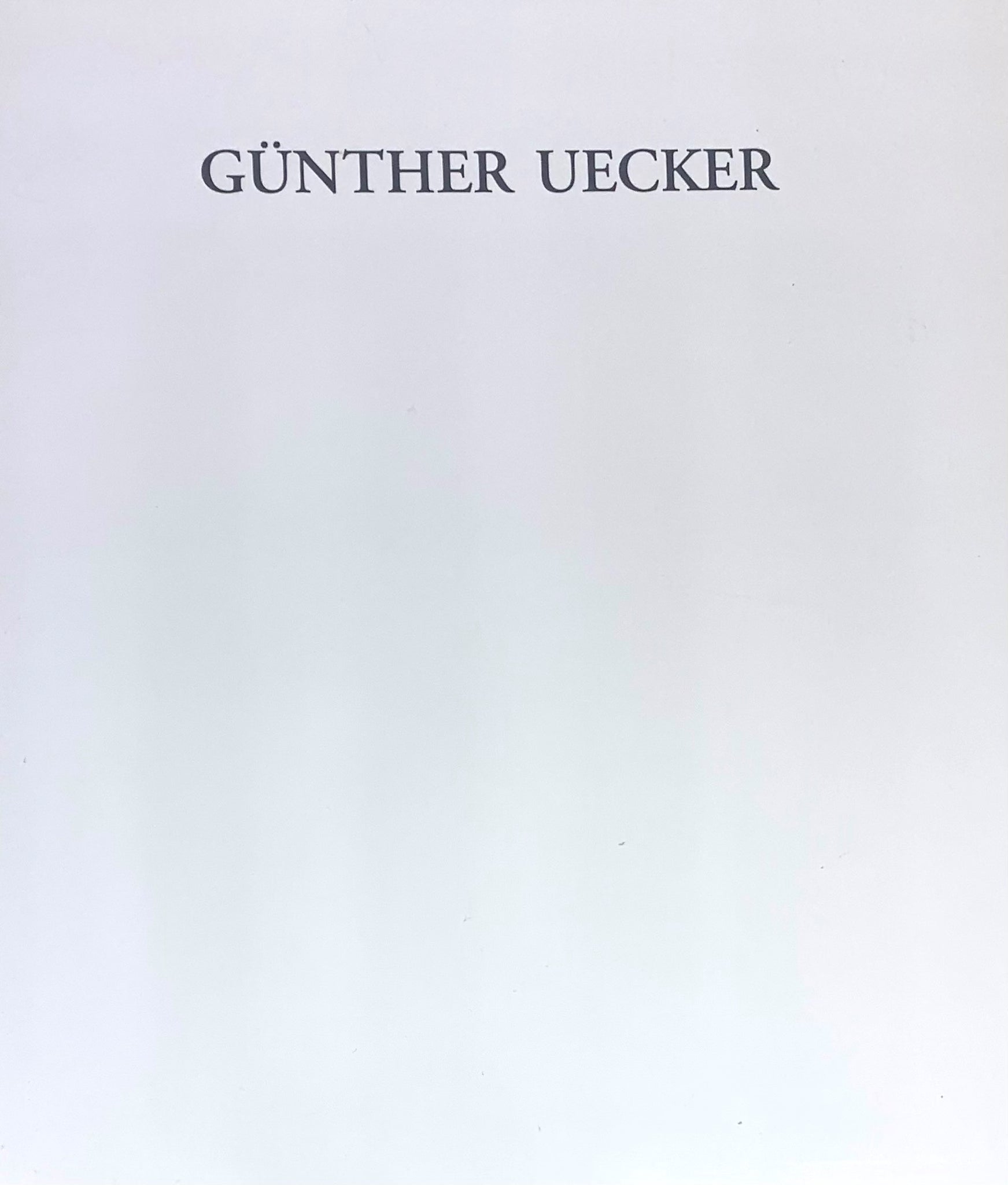 Günther Uecker: New Works