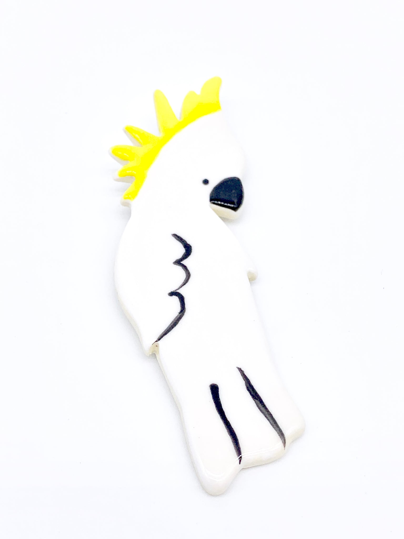 Ceramic Cockatoo Brooch