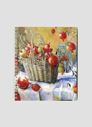 Pomegranates in a Basket Small Notepad