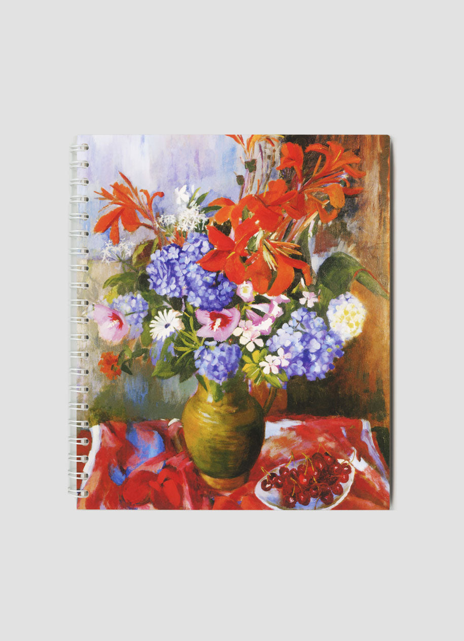 Summer Flowers and Cherries Small Notepad