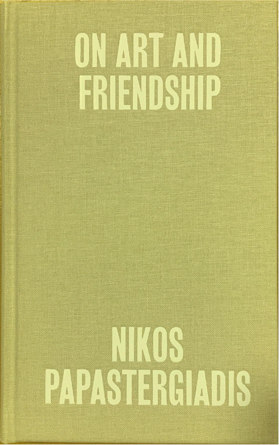 On Art and Friendship