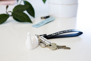 Ridiculous Swan Thing Keyring - David Shrigley