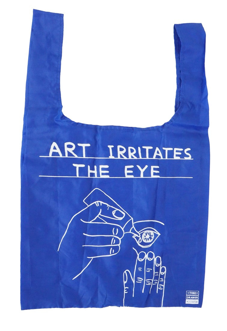 Art Irritates the Eye Shopping Tote - David Shrigley