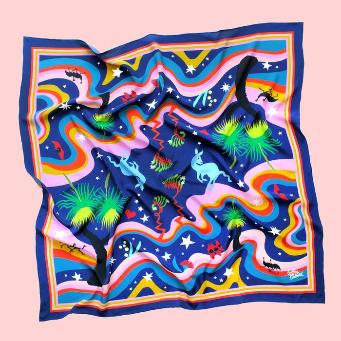 Astral Nights Silk Scarf