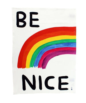 Be Nice Tea Towel - David Shrigley