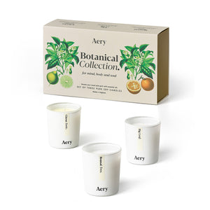 Aery Botanical Votive Set of 3 Candles