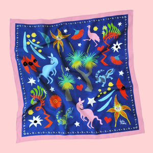 Bush Jamboree Silk/Cotton Scarf