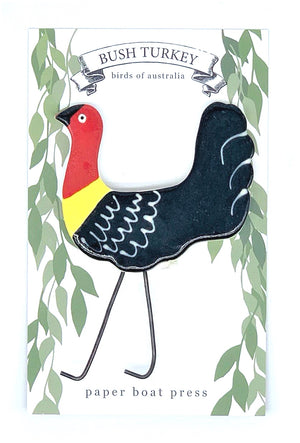 Bush Turkey Brooch