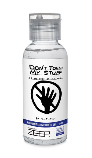 Don't Touch My Stuff Hand Sanitiser 100ml - David Shrigley