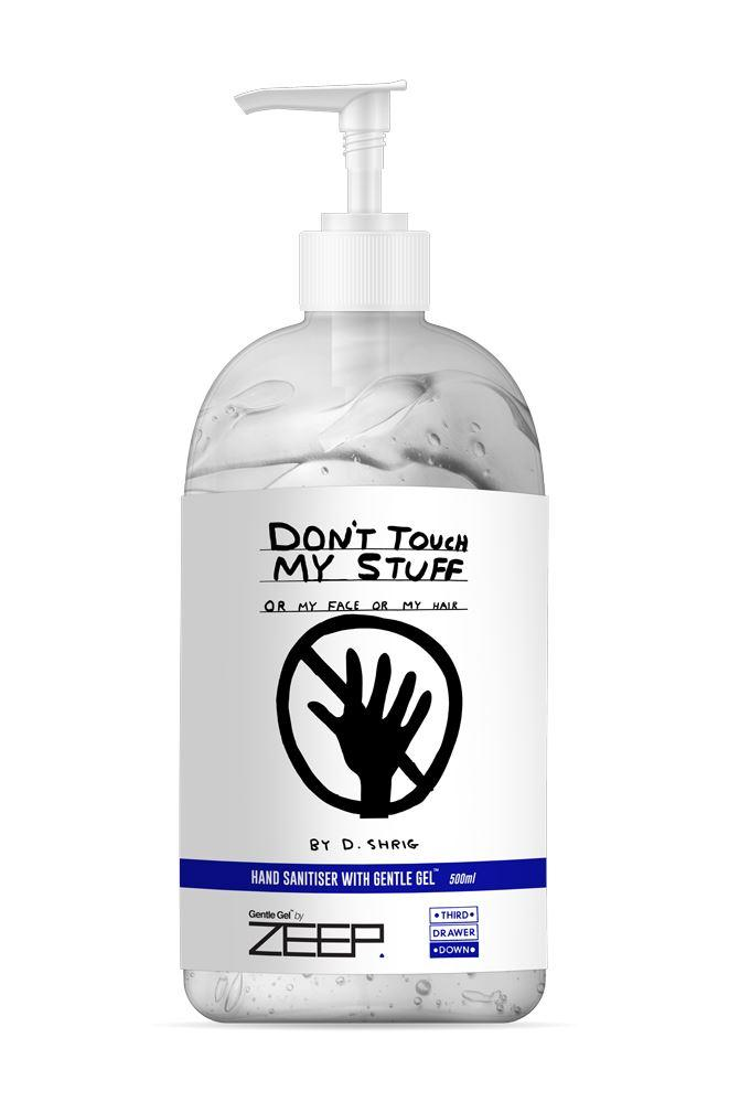 Don't Touch My Stuff Hand Sanitiser 500ml - David Shrigley