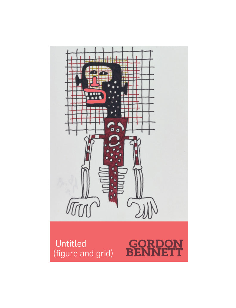 Untitled (figure and grid) Jigsaw Puzzle - Gordon Bennett