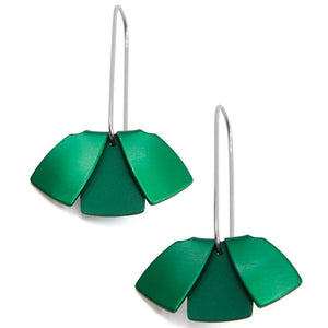 Anodized Earrings Flip Flat Green
