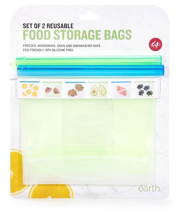 Silicone Food Storage Bags - Set of 2