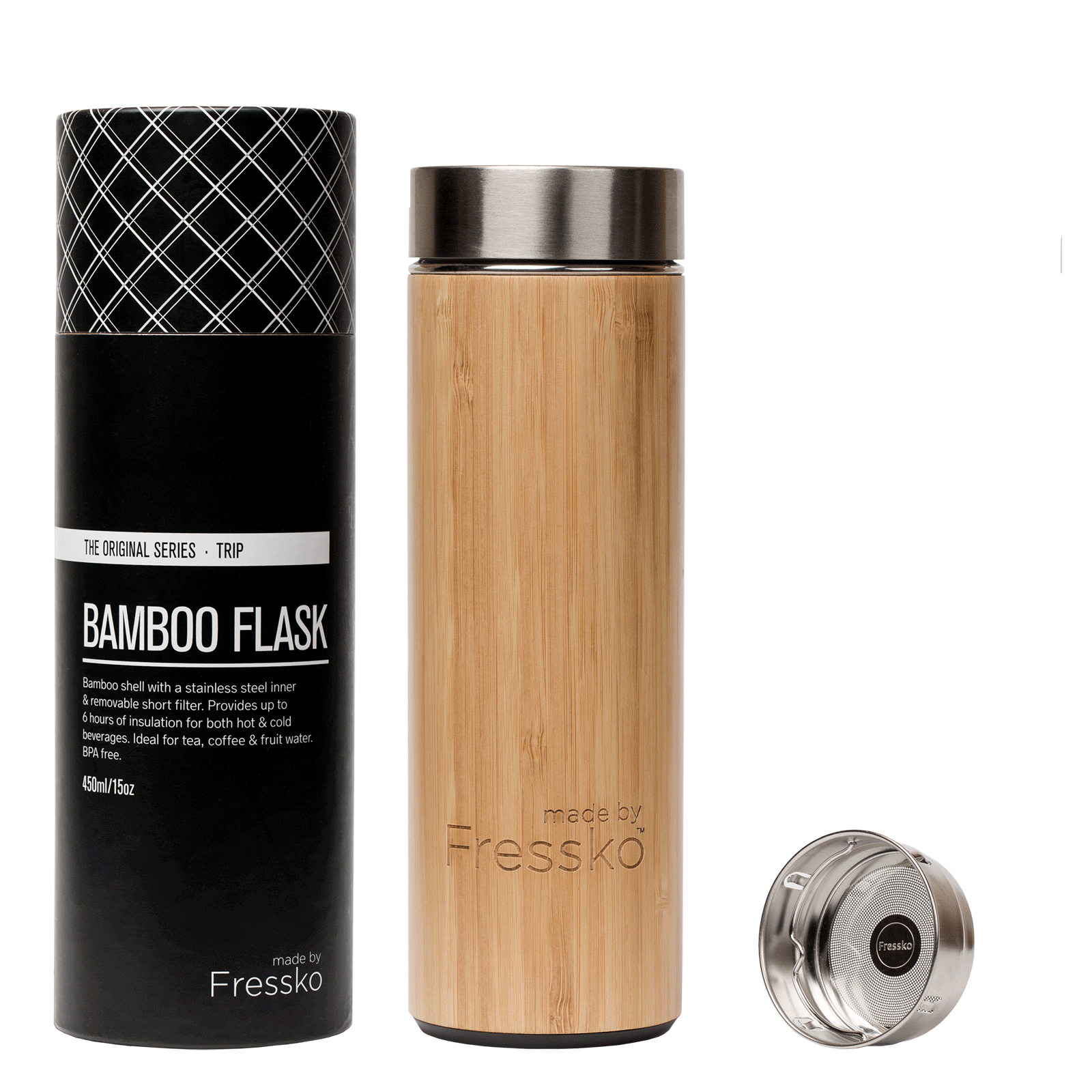 Fressko Trip Bamboo Flask 450ml