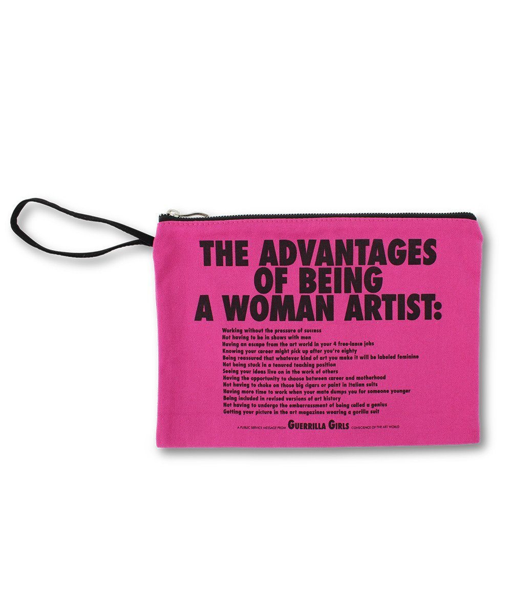 Advantages of Being a Woman Artist Clutch - Guerrilla Girls