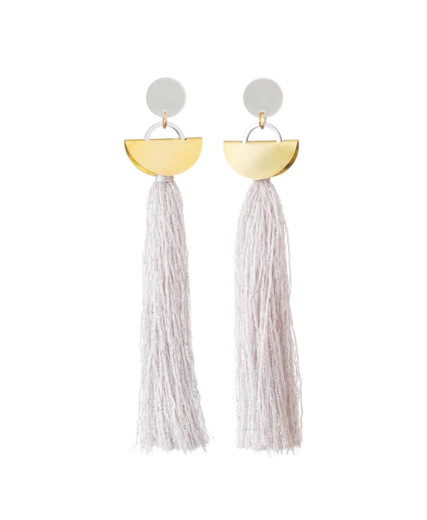 Khamun Tassel Earrings Lilac