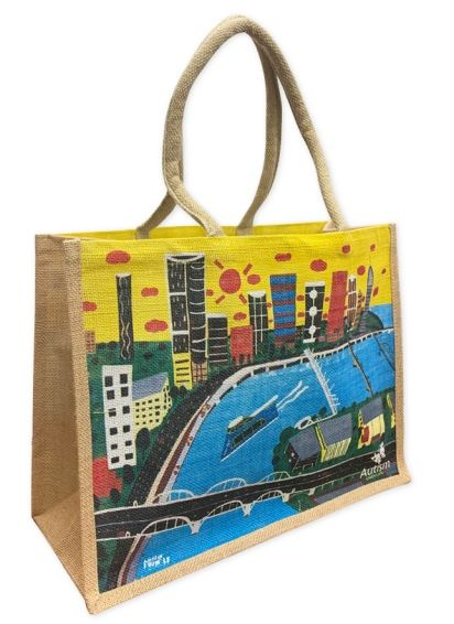 Martin Edge Jute Tote Bag