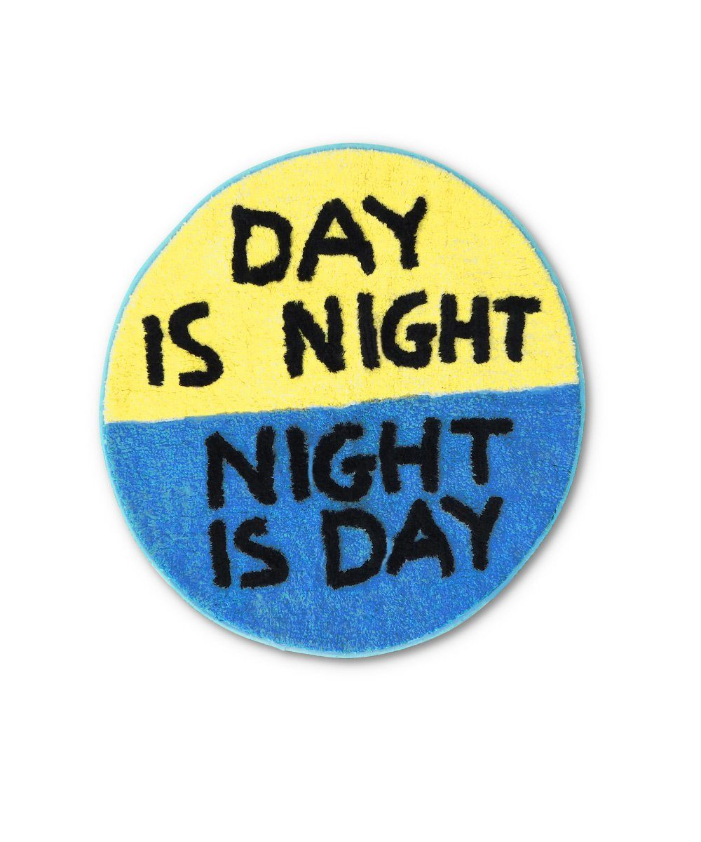 Day is Night Shaggy Floor Mat x David Shrigley x Third Drawer Down