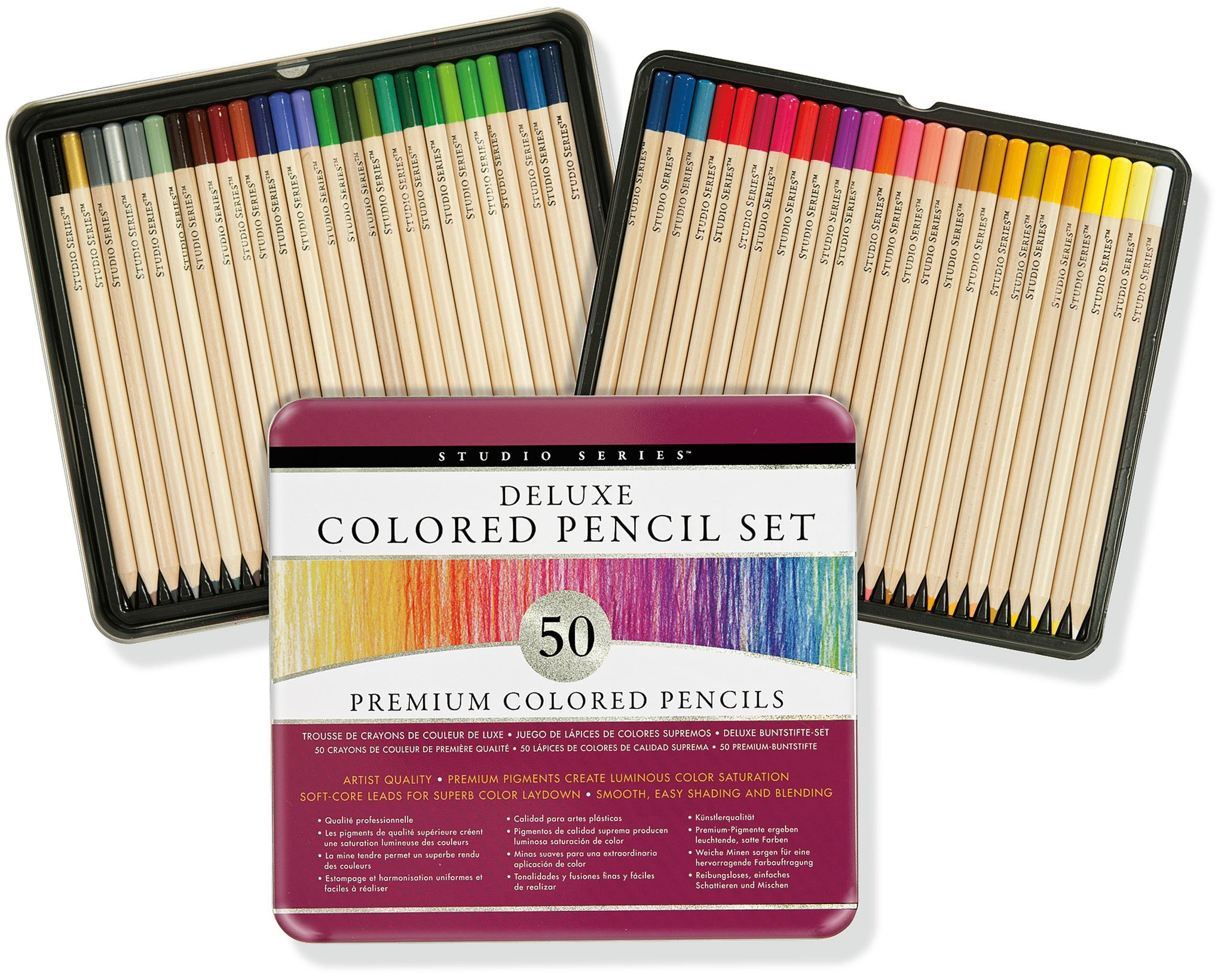 Deluxe Coloured Pencil Set of 50