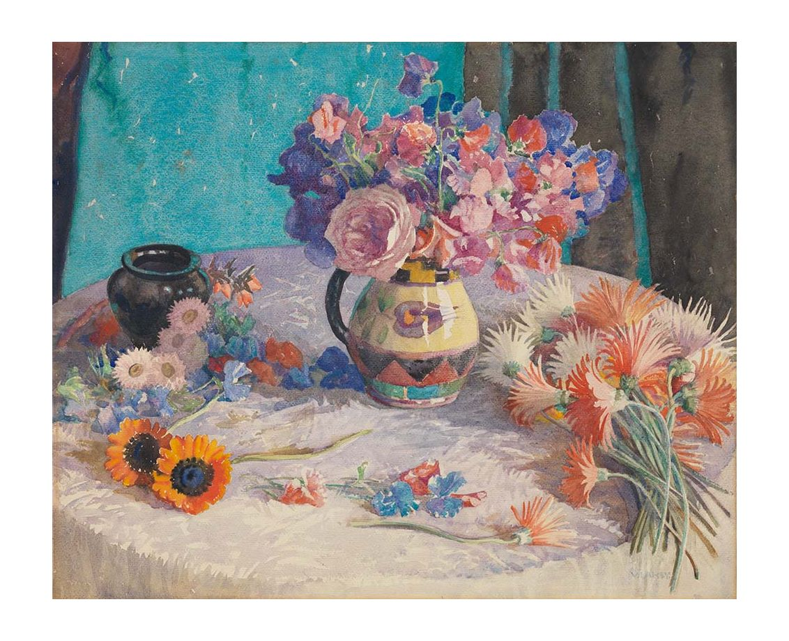 Sweet Peas and Gerberas Print - Vida Lahey