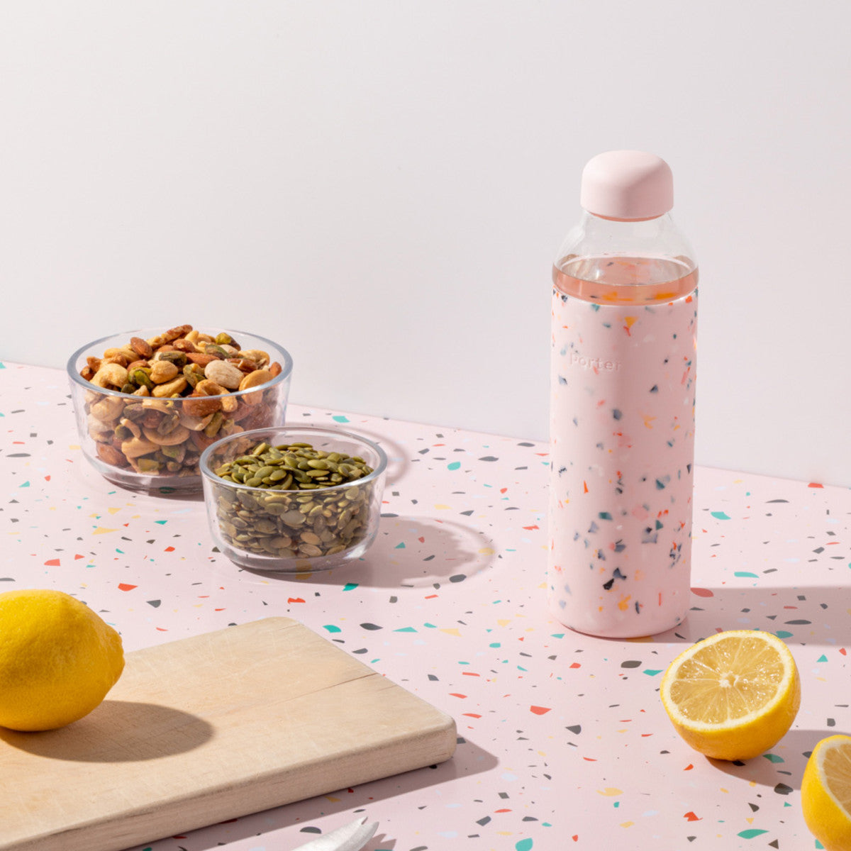 Glass Bottle Terrazzo 591ml