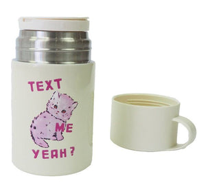 Text Me Yeah Drink Flask - Magda Archer
