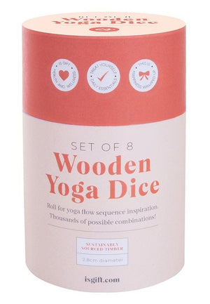 Wooden Yoga Dice Set