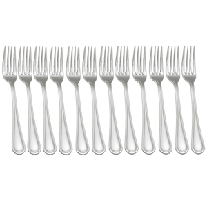 Mayridge® 18/0 Stainless Steel Dinner Table Forks Flatware (Set of 12) - Millennial Sales