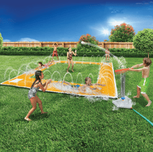 Load image into Gallery viewer, Banzai 14ft X 14ft Home Run Splash Baseball Sprinkler Inflatable Water Park Pool Slip And Slide - Millennial Sales