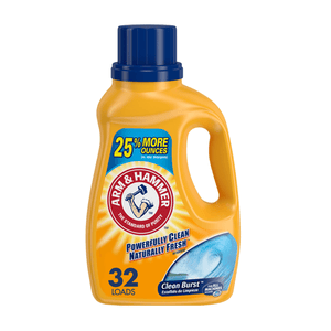 Arm & Hammer Clean Burst Liquid Laundry Detergent HE Certified 32 loads - Millennial Sales