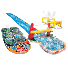 Load image into Gallery viewer, Banzai Aqua Blast Obstacle Course Slide 16'L Inflatable Backyard Aqua Water Park Fun - Millennial Sales