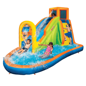 Banzai Plummet Falls Adventure Slide w/ Fill & Spill Water Park Bucket Outdoor Play Obstacle Course - Millennial Sales