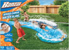 Load image into Gallery viewer, Banzai Speed Curved Inflatable Watepark Slip And Slide Curve Sprinkler - Millennial Sales