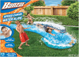 Banzai Speed Curved Inflatable Watepark Slip And Slide Curve Sprinkler - Millennial Sales