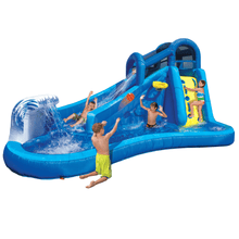 Load image into Gallery viewer, Banzai Surf N' Splash Water Park Slide w/ Basketball Hoop Outdoor Play Obstacle Course - Millennial Sales